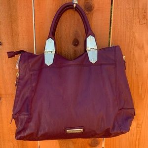 Steve Madden Large Burgundy Leather Tote Purse